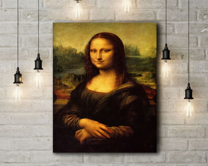 Leonardo Da Vinci: Mona Lisa. Fine Art Canvas.